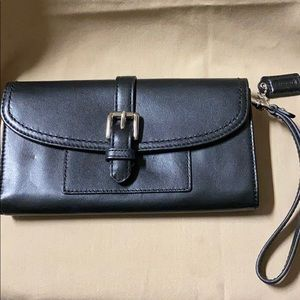 Coach Black Wrist Wallet